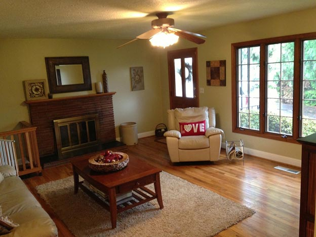 Living room with area rug