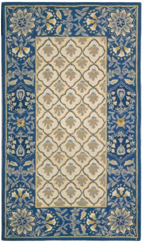 Safavieh Chelsea HK124A Blue and White Area Rug