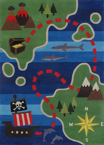 Pirate area rug