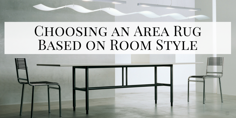 Choosing an Area Rug Based on Room Style