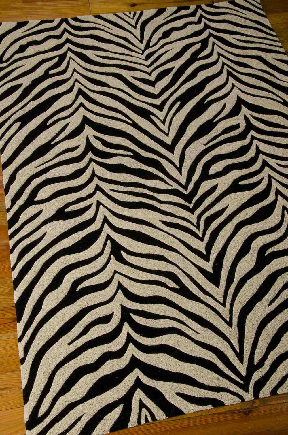 Michael Amini Zambiana MA401 Black White Area Rug