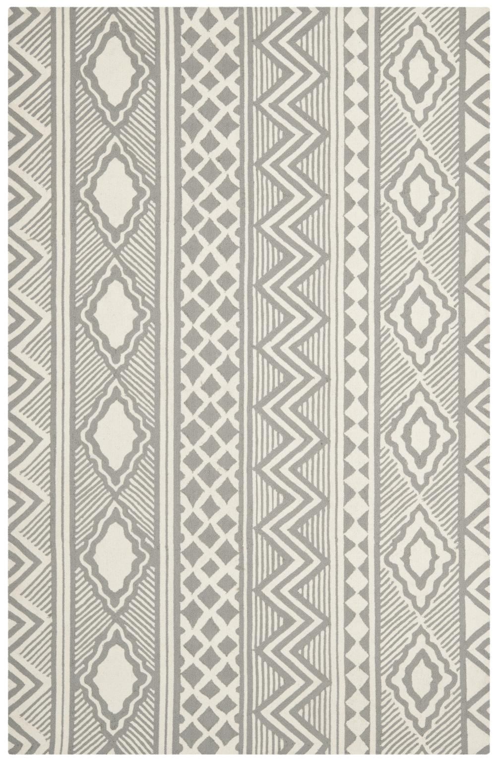 Safavieh Isaac Mizrahi IMR353B Grey and Ivory Area Rug