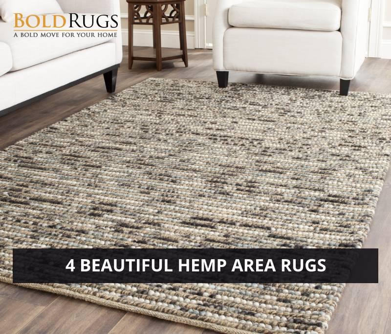 4 Beautiful Hemp Area Rugs