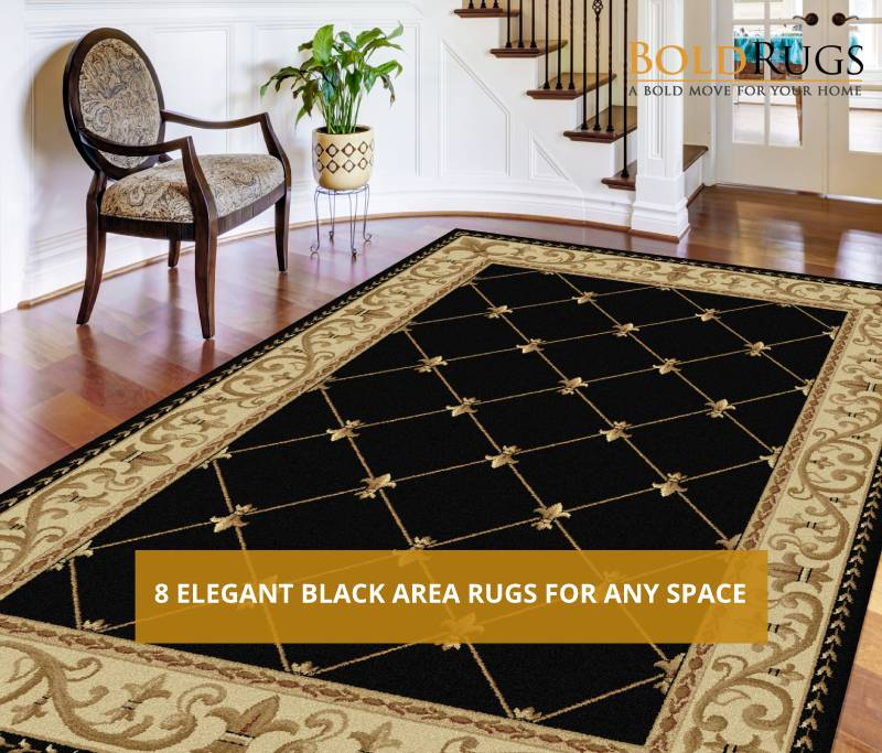 8 Elegant Black Area Rugs for Any Space