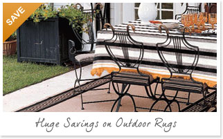 View our outdoor area rugs