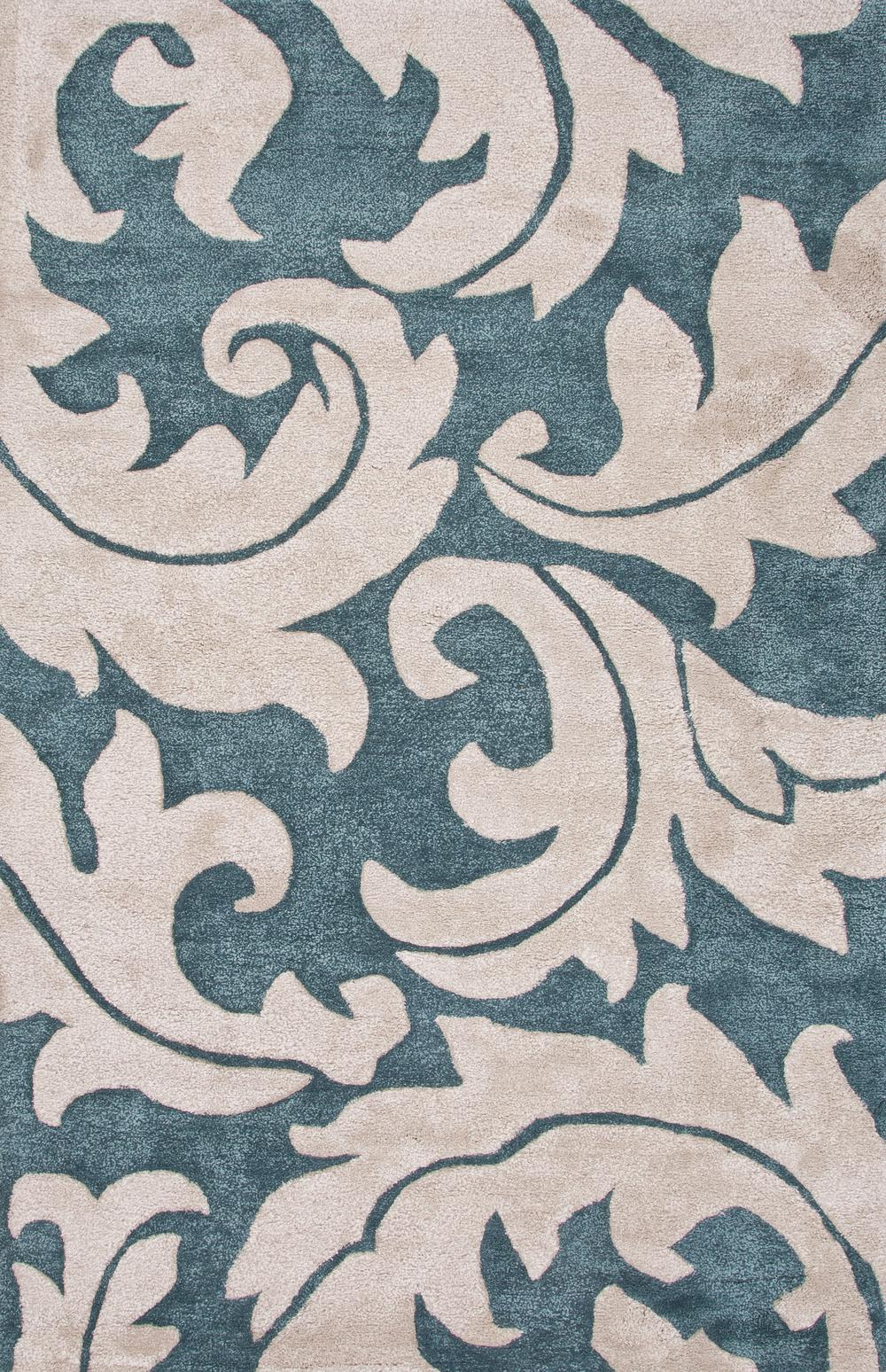 Jaipur blue aloha blue white bl133 area rug free shipping for Blue and white area rugs