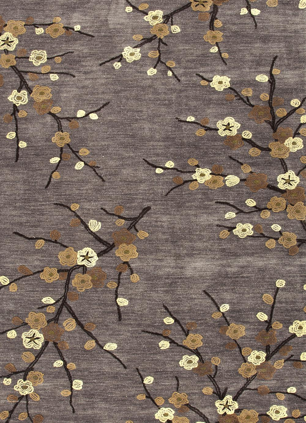 Jaipur Brio Cherry Blossom Gray Yellow Br16 Area Rug