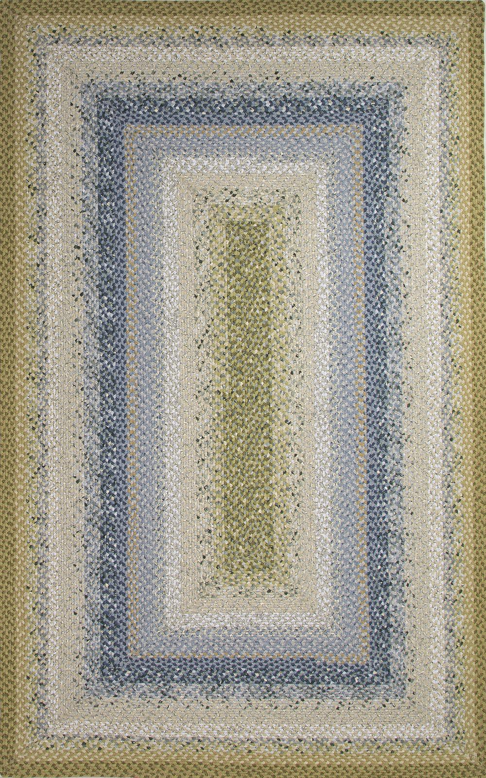 Jaipur Cotton Braided Rugs Seascape Blue Green Cbr05 Area