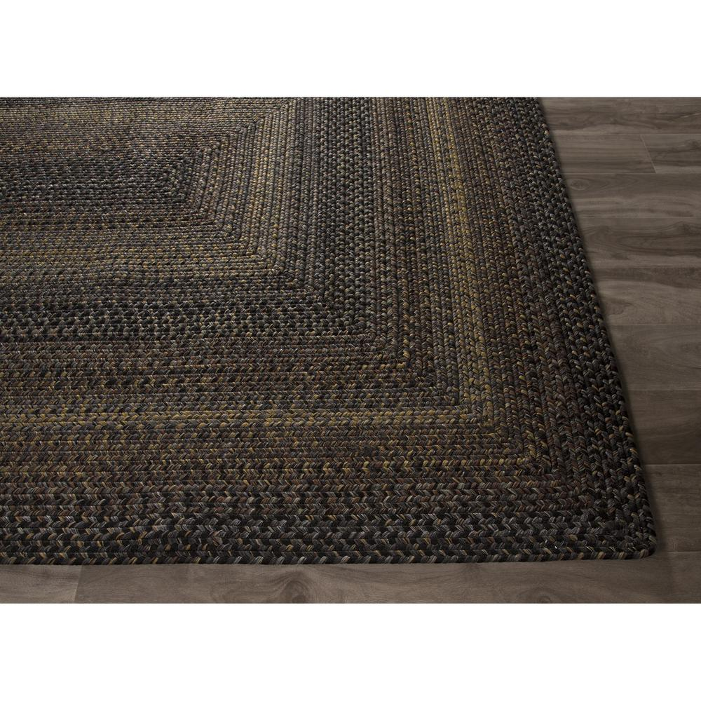 Jaipur Ultra Durable Braided Rugs Black Forest Black Gray