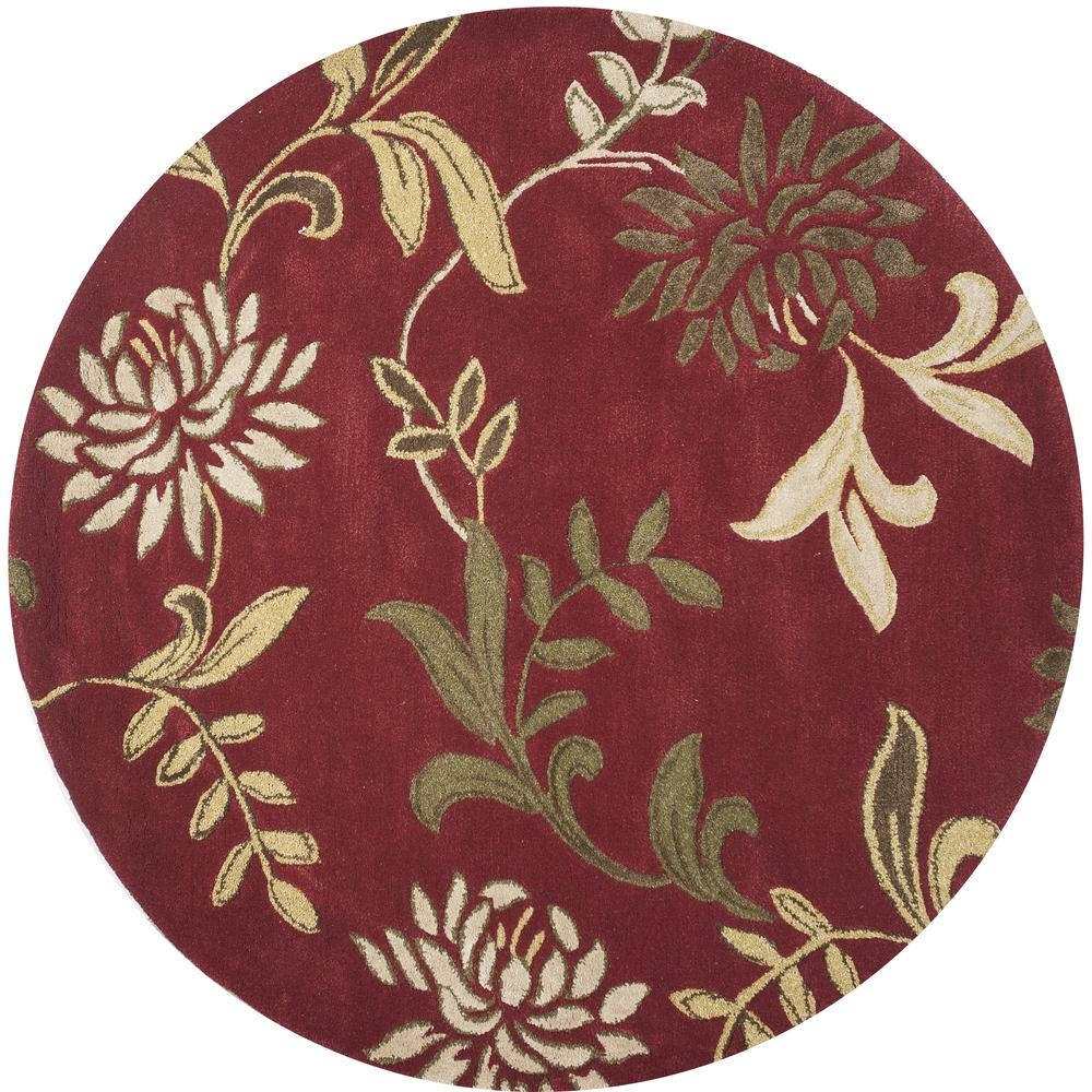 Kas florence 4562 red floral area rug free shipping for Red floral area rug