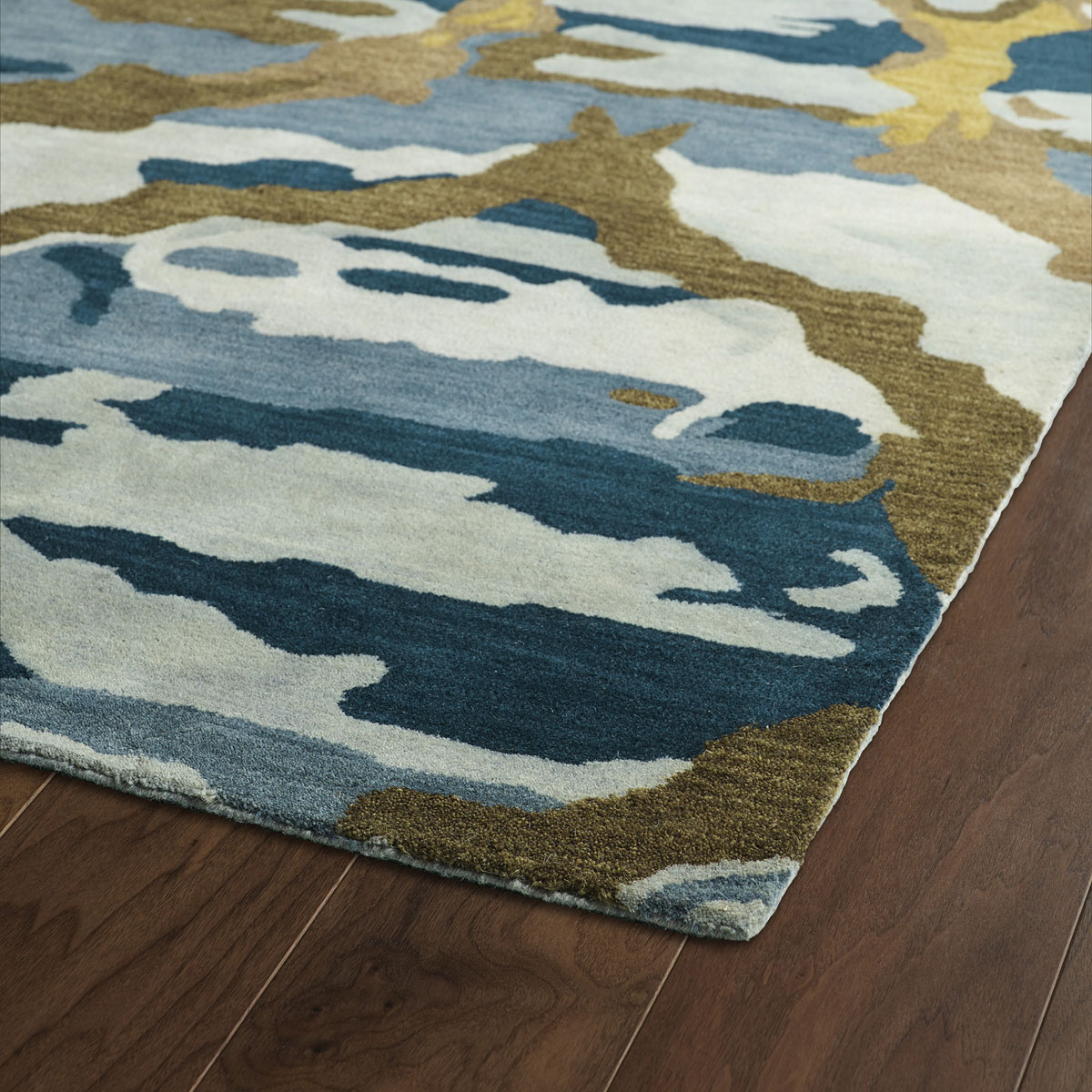 Kaleen Brushstrokes Blue Brs02 17 Area Rug Free Shipping