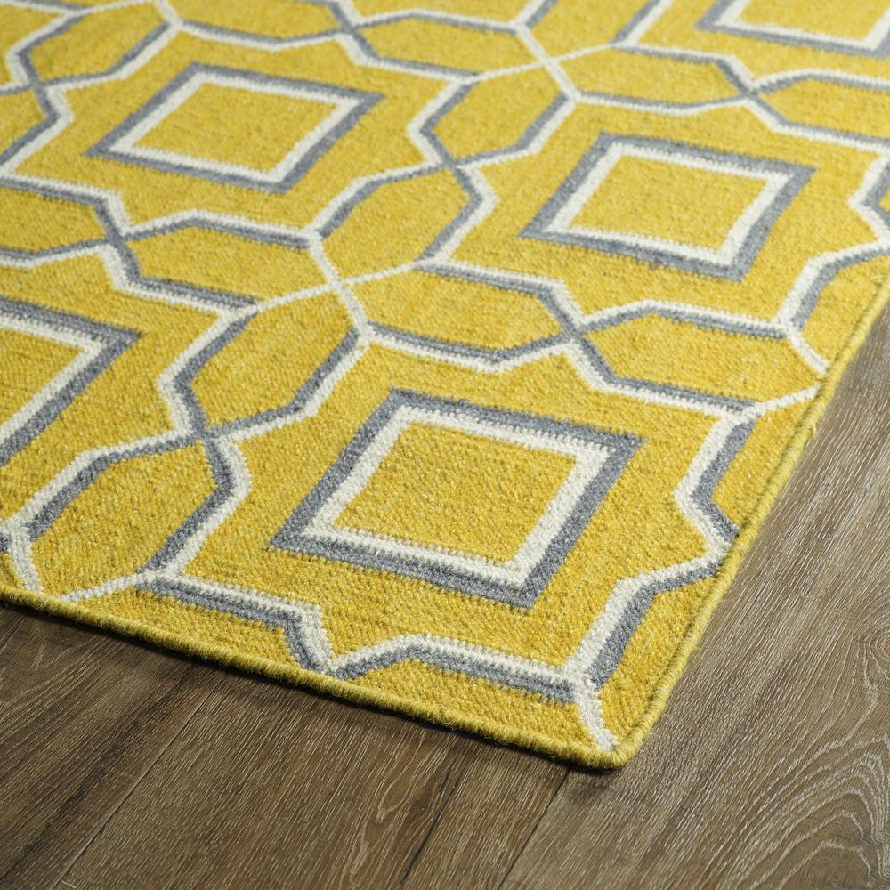 Kaleen Glam Yellow Gla06 28 Area Rug Free Shipping