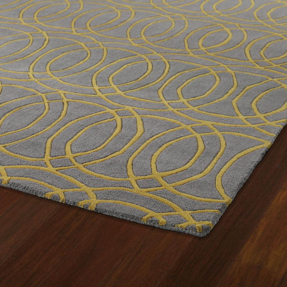 Kaleen Revolution Yellow Rev02 28 Area Rug Free Shipping