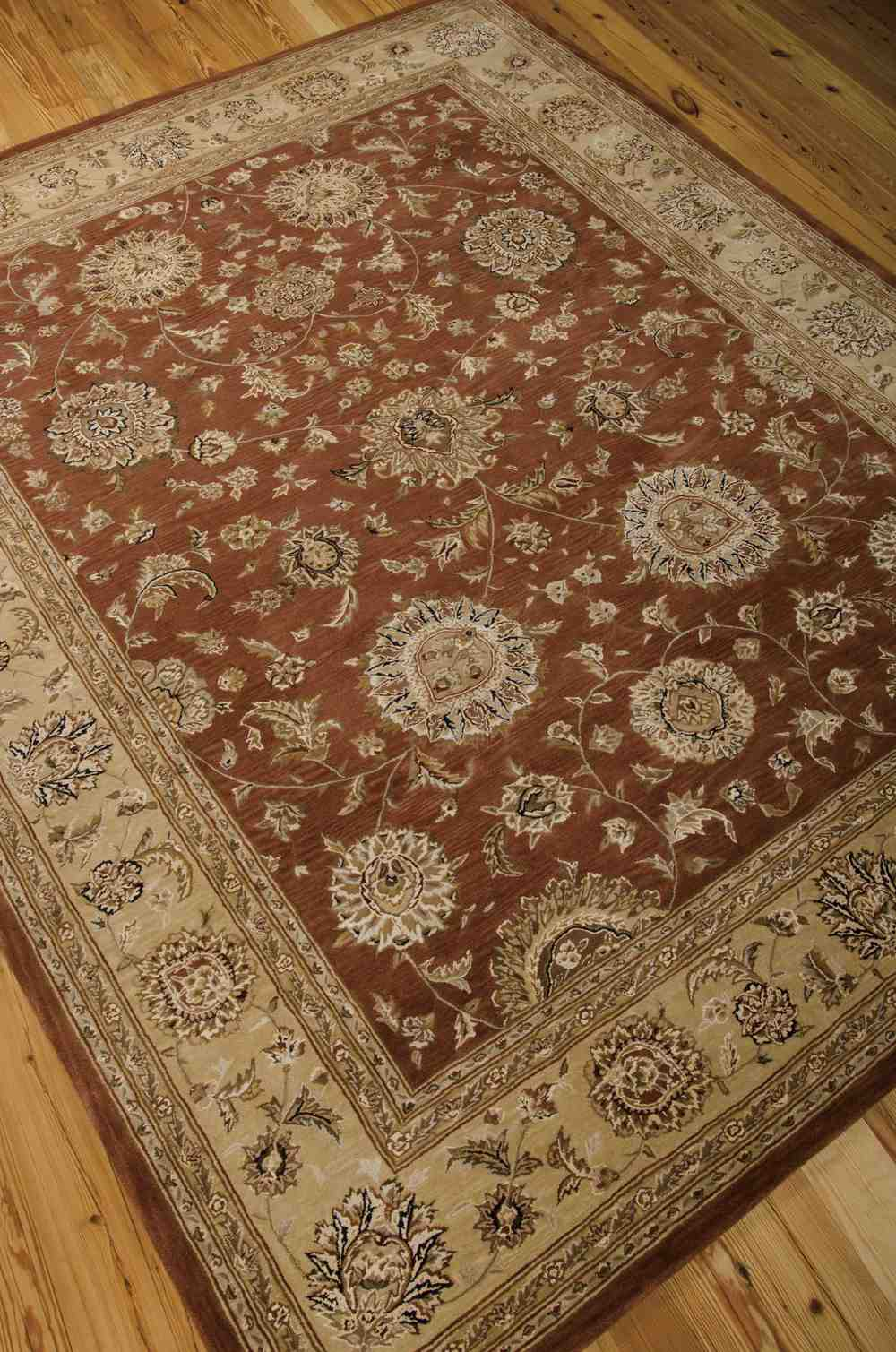 Nourison 2000 2258 Rust Area Rug Free Shipping
