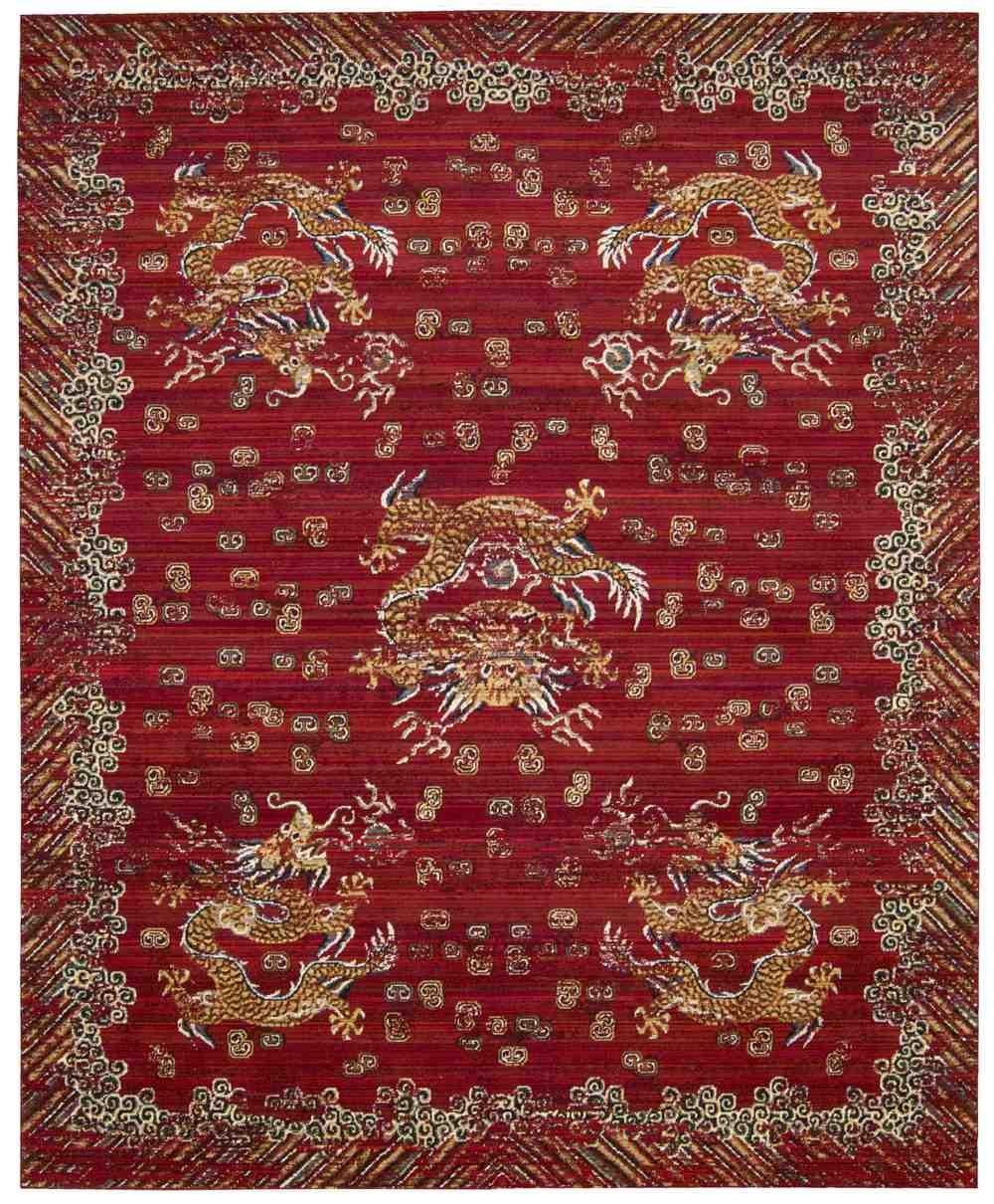 nourison barclay butera dynasty dyn04 oxblood area rug | free shipping