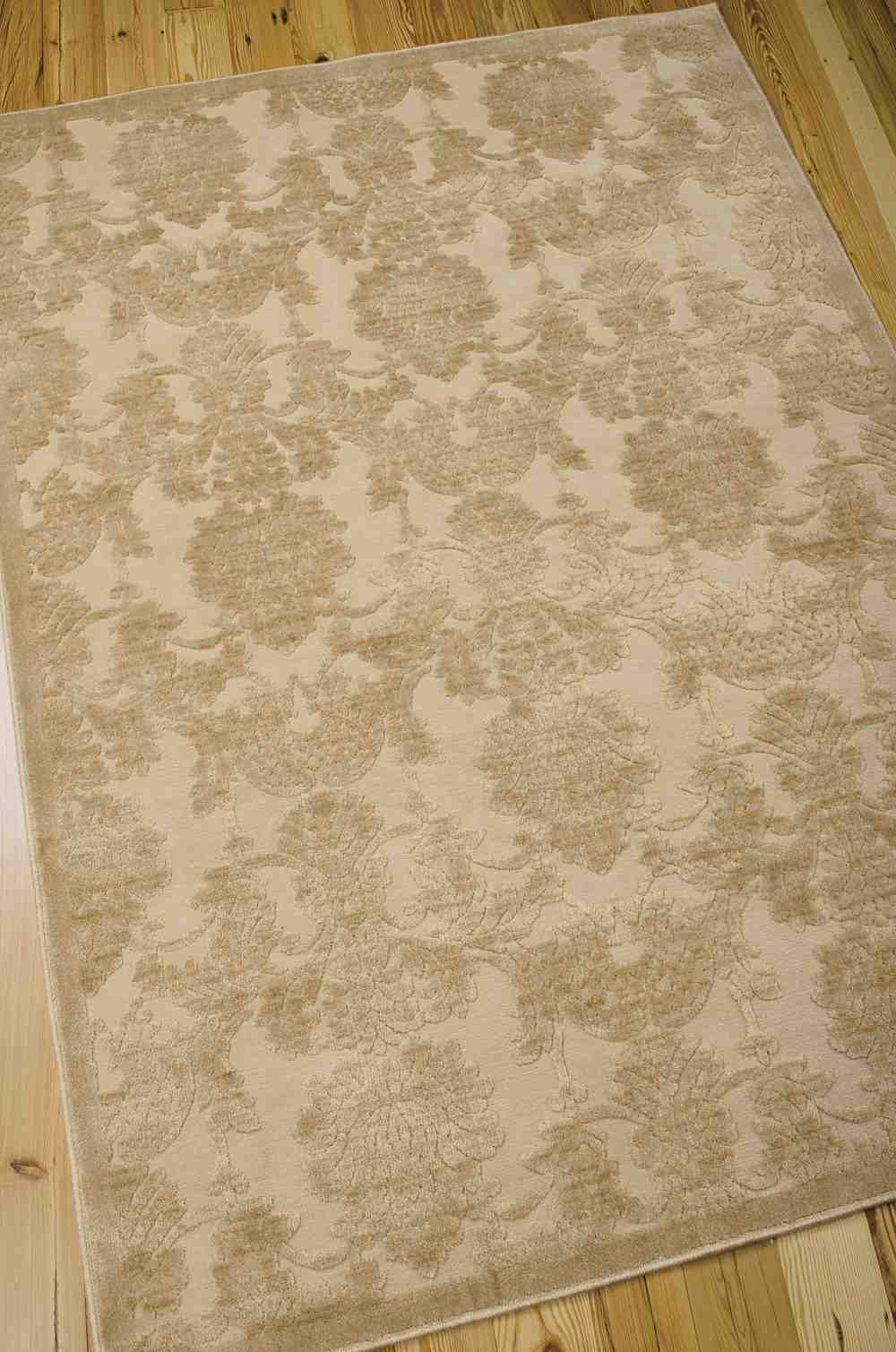 Nourison Graphic Illusions Gil03 Light Gold Area Rug