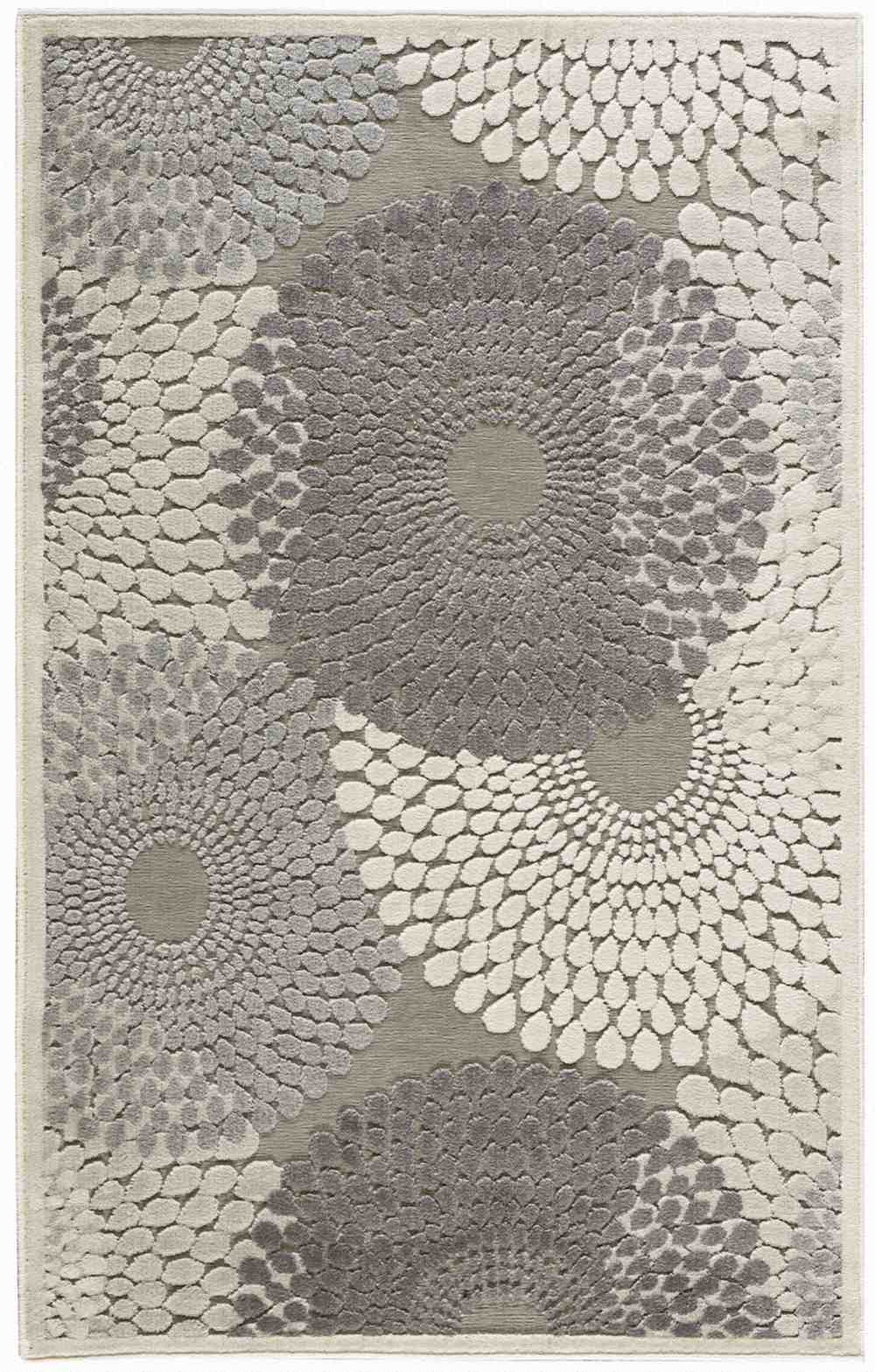 Nourison Graphic Illusions Gil04 Grey Area Rug Free Shipping