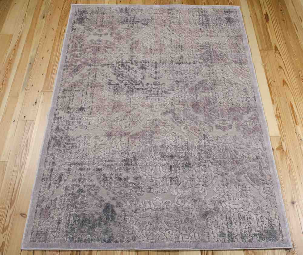 Nourison Graphic Illusions Gil09 Grey Area Rug Free Shipping