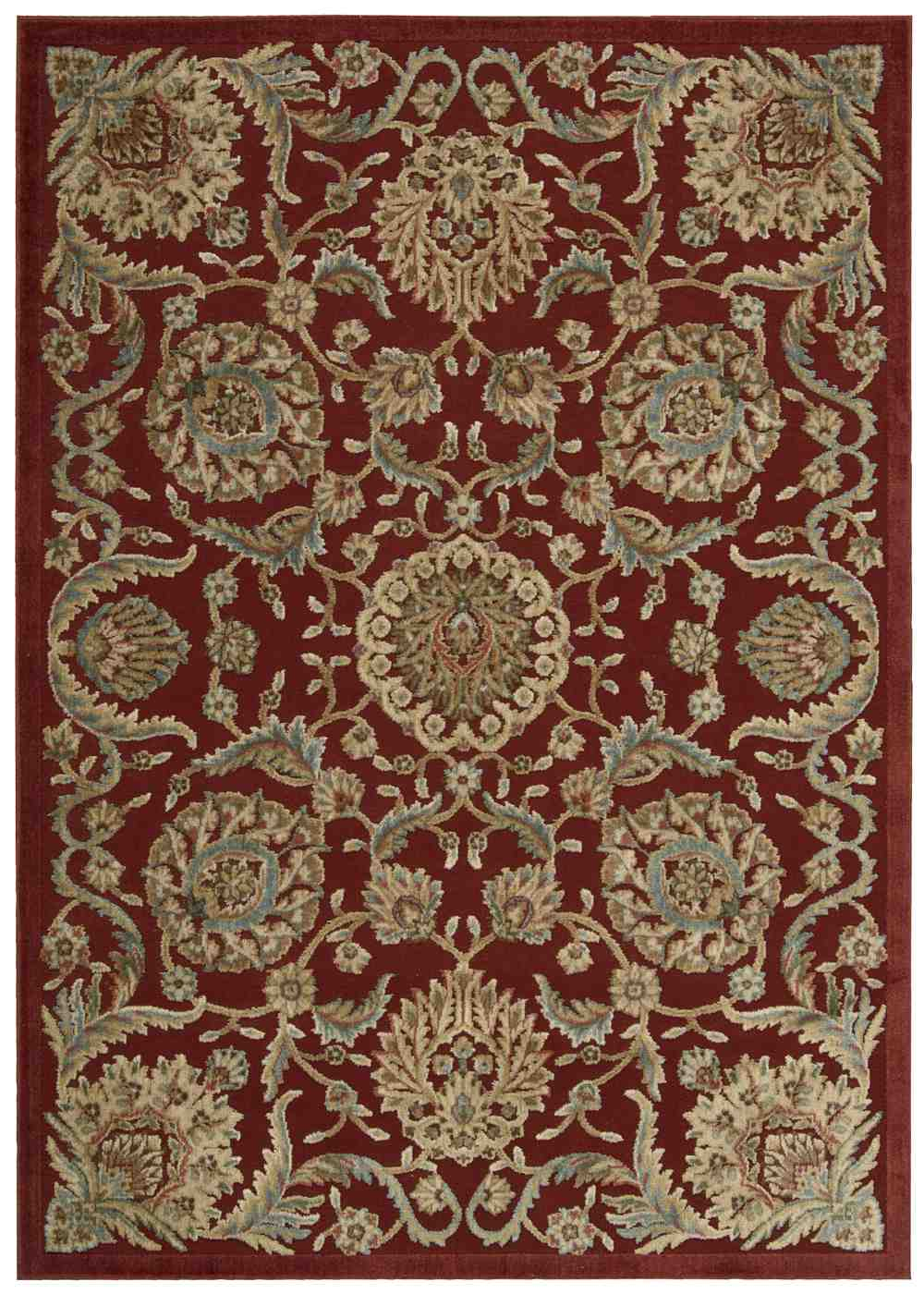 Nourison Graphic Illusions Gil17 Red Area Rug Free Shipping