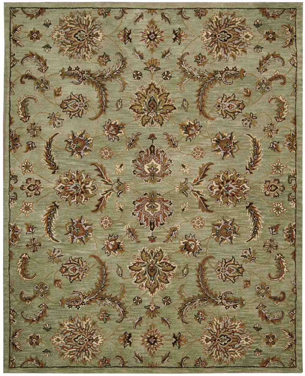 Area Rugs From India: Nourison India House IH83 Light Green Area Rug