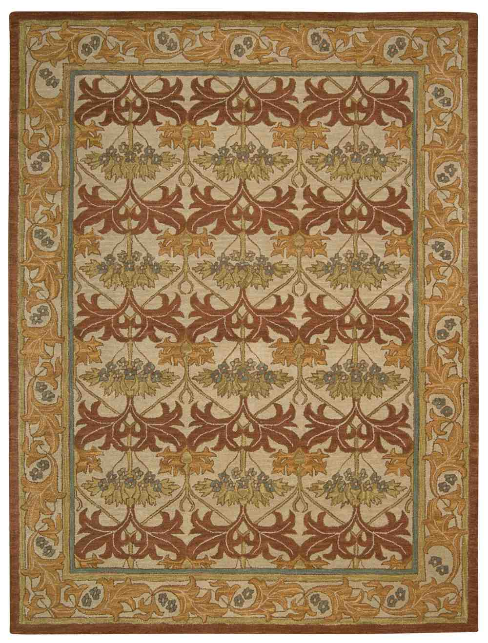 Nourison India House IH86 Beige Hover To Zoom