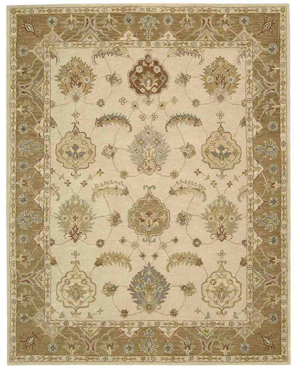 Area Rugs From India: Nourison India House IH87 Ivory Gold Area Rug