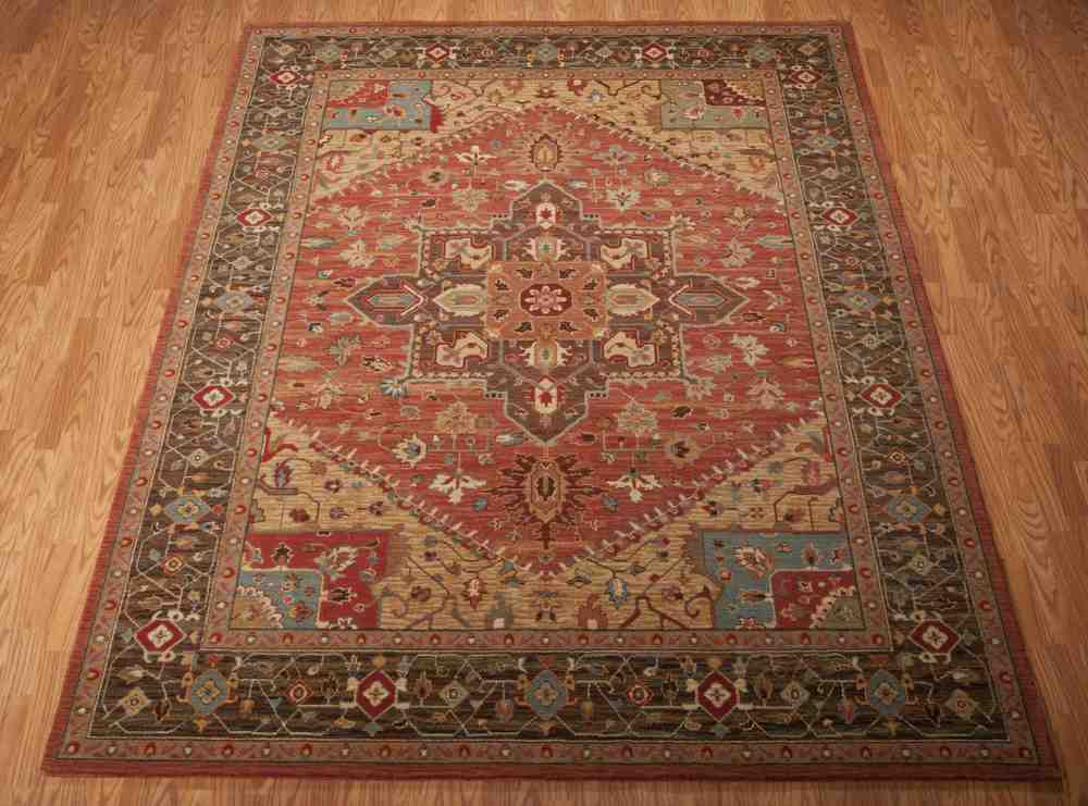 Nourison Living Treasures Li01 Rust Area Rug Free Shipping