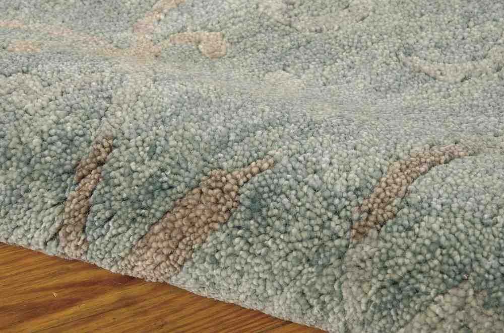 Completely new Nourison Tahoe Modern MTA05 Seaglass Area Rug | Free Shipping VD55