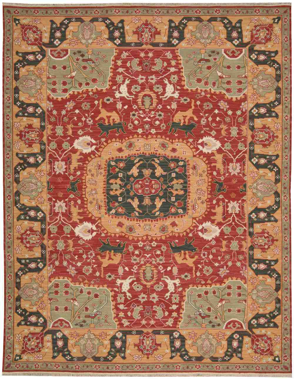 Nourison Nourmak Sk63 Red Area Rug Free Shipping