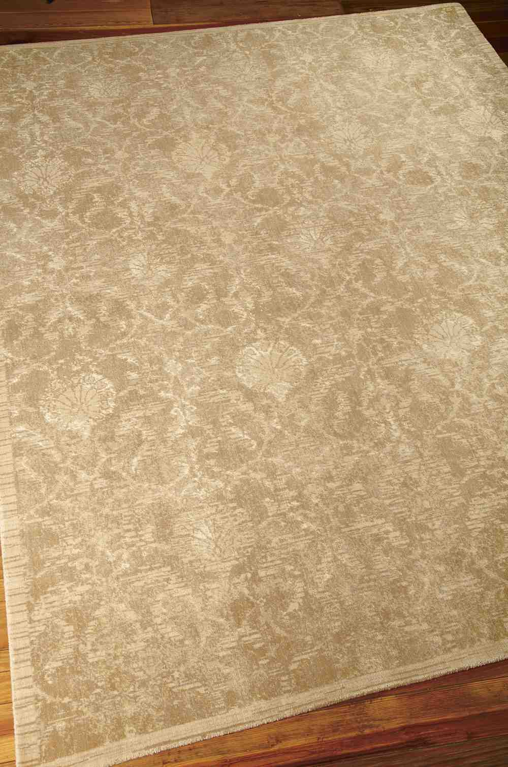 Nourison Silk Elements Ske03 Sand Area Rug Free Shipping
