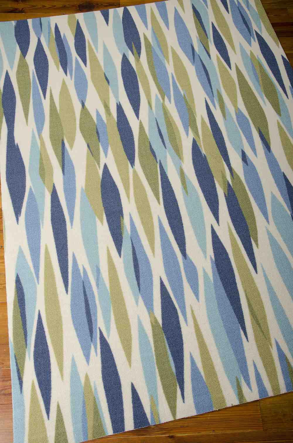 Nourison Waverly Sun And Shade Snd01 Seaglass Area Rug