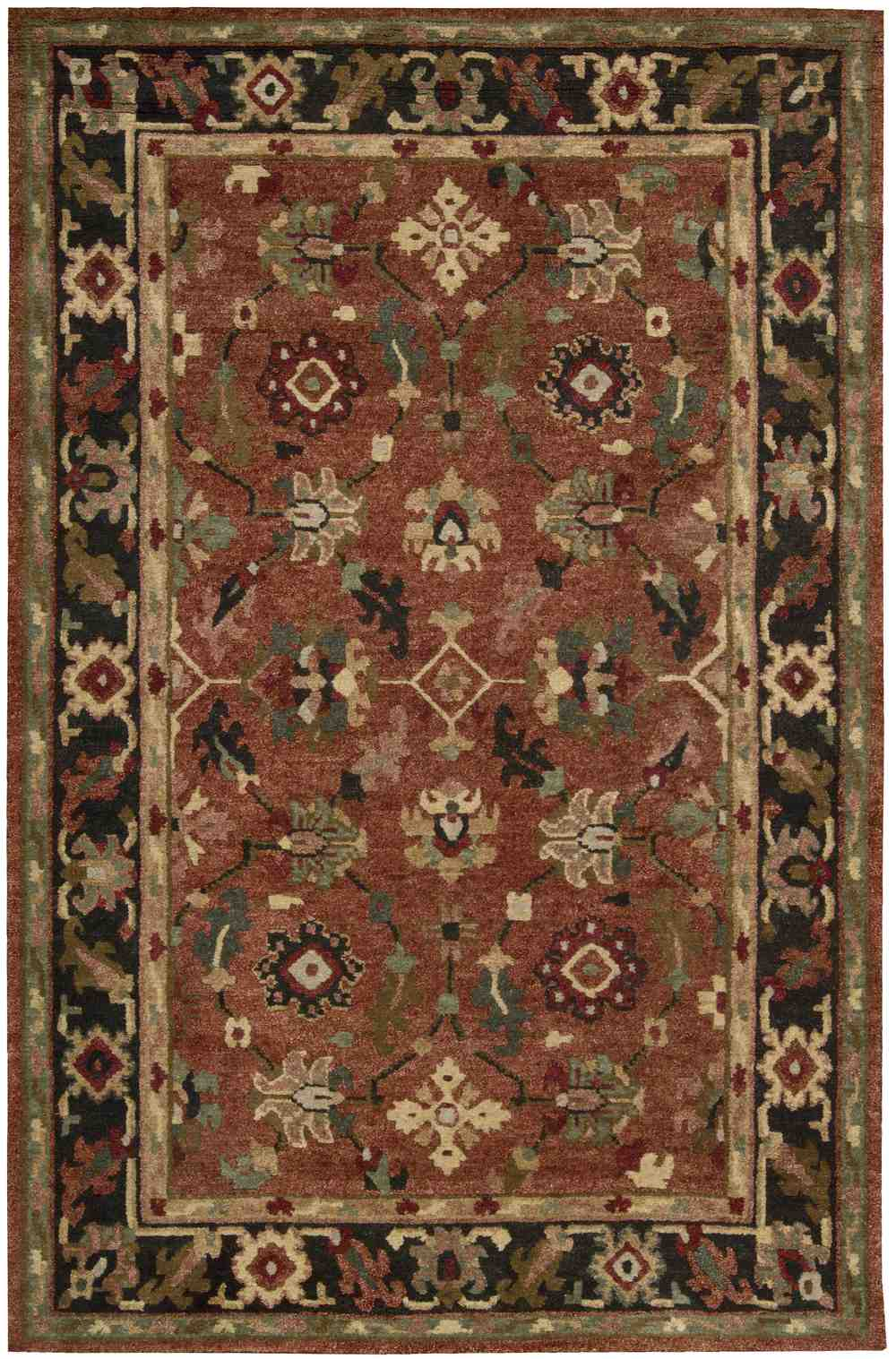 Nourison Tahoe Ta12 Rust Area Rug Free Shipping