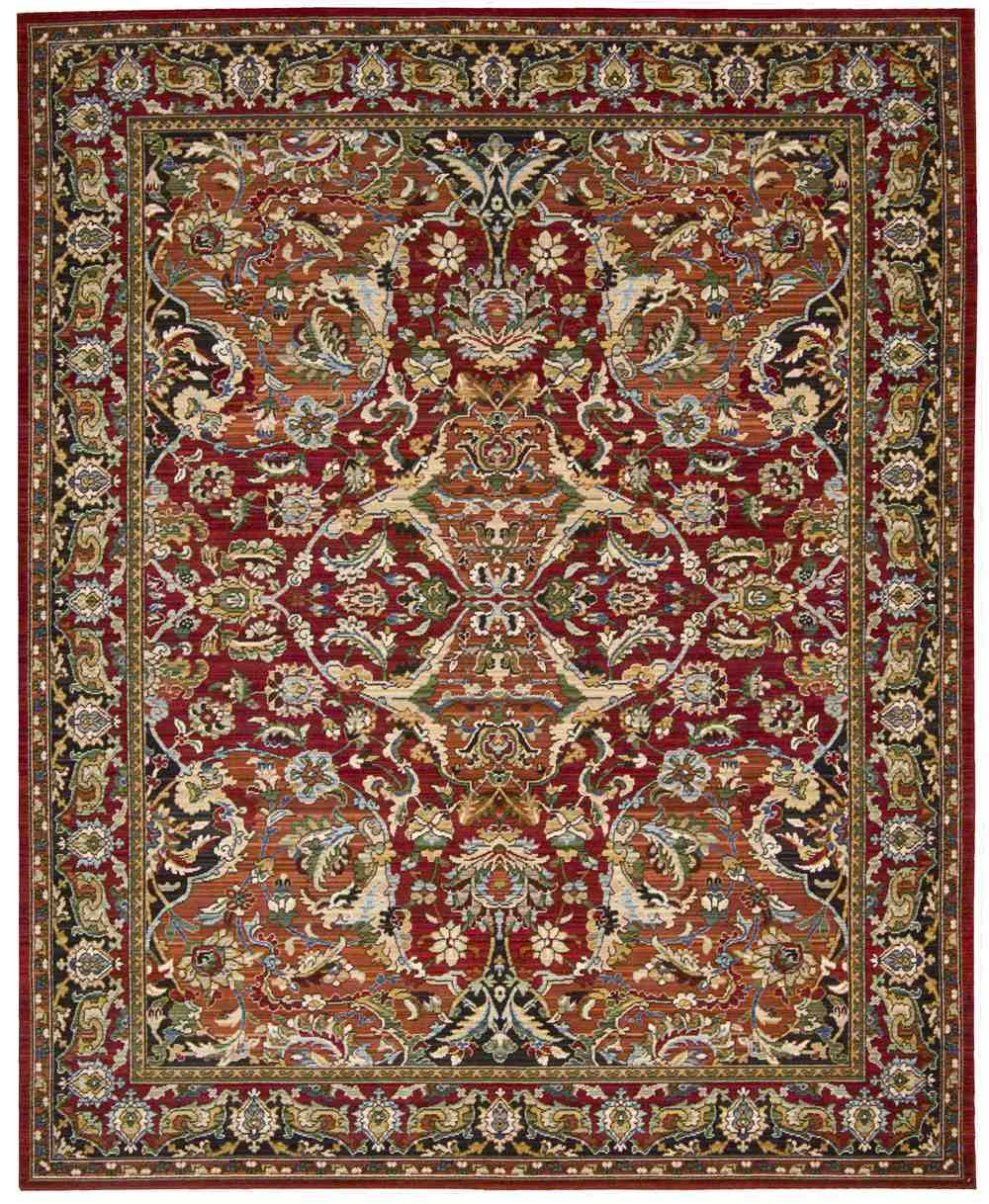 Nourison Timeless Tml15 Red Area Rug Free Shipping