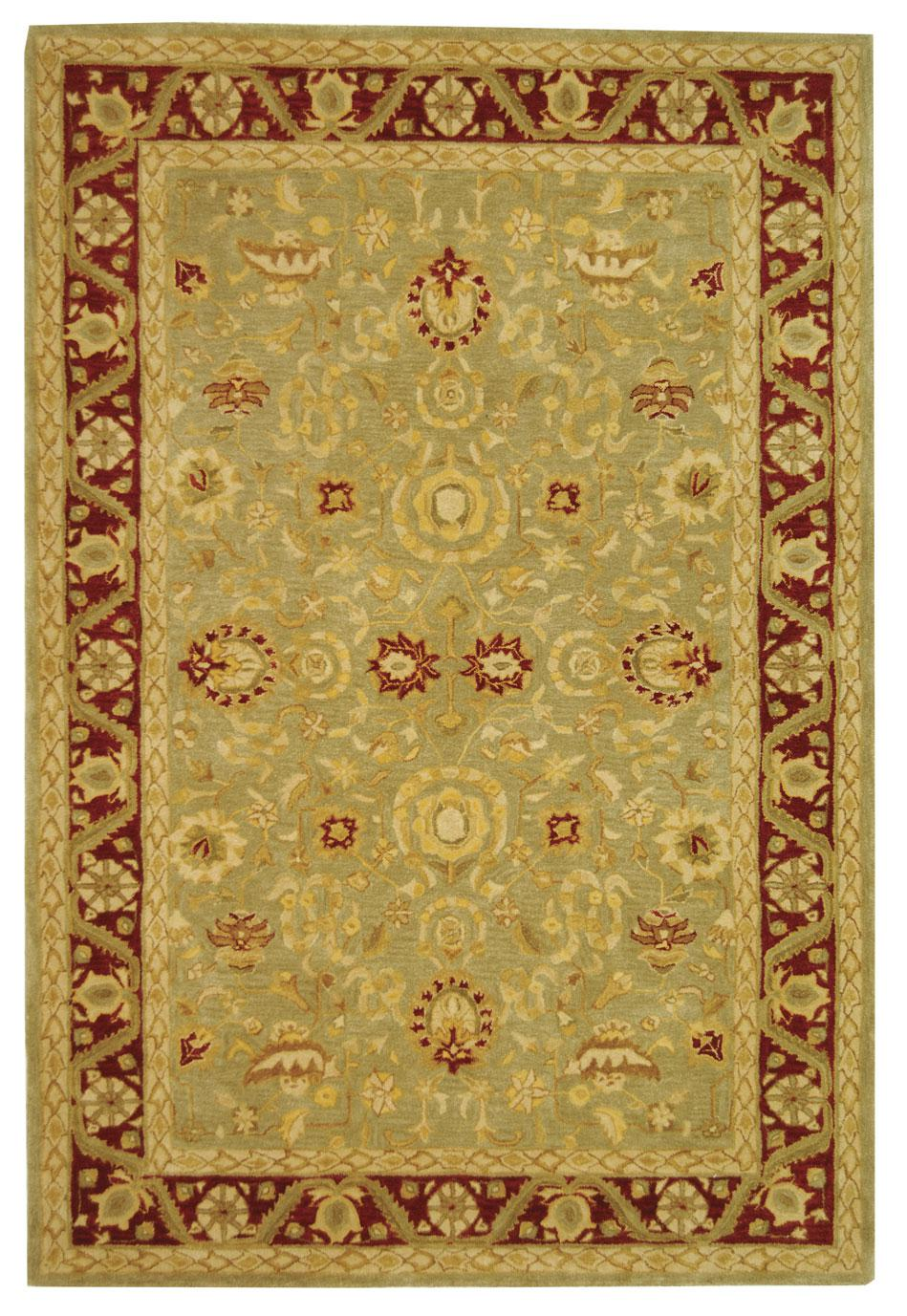 Safavieh Anatolia An548a Light Green And Red Area Rug