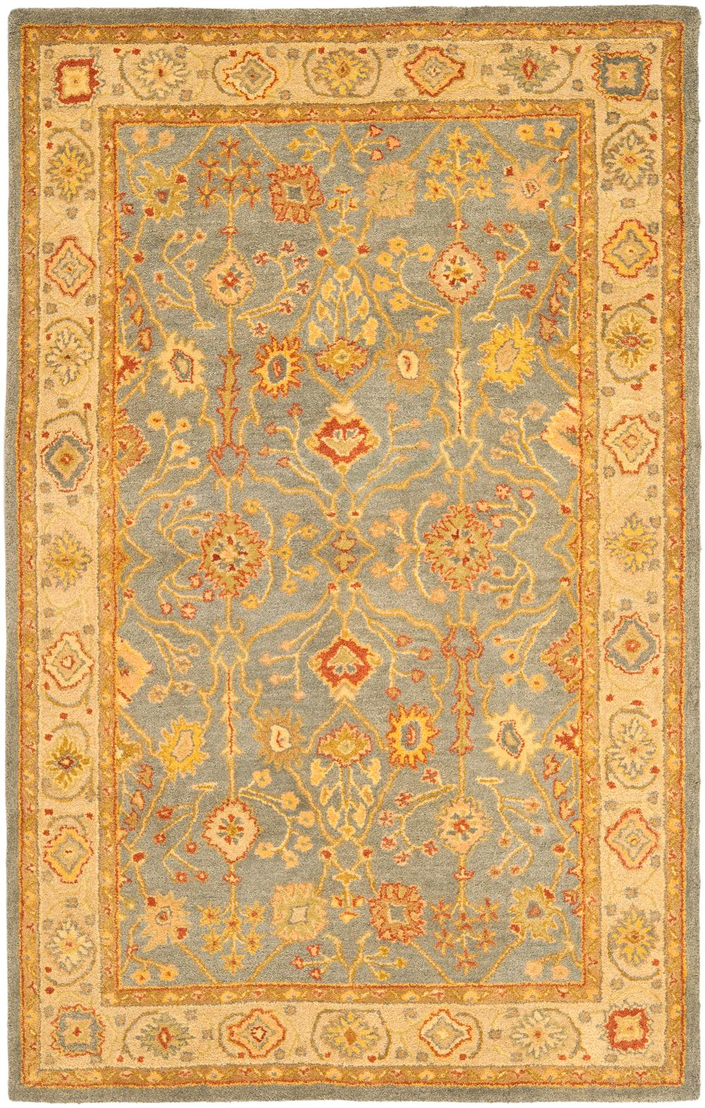 Safavieh Antiquity At314a Blue And Ivory Area Rug Free