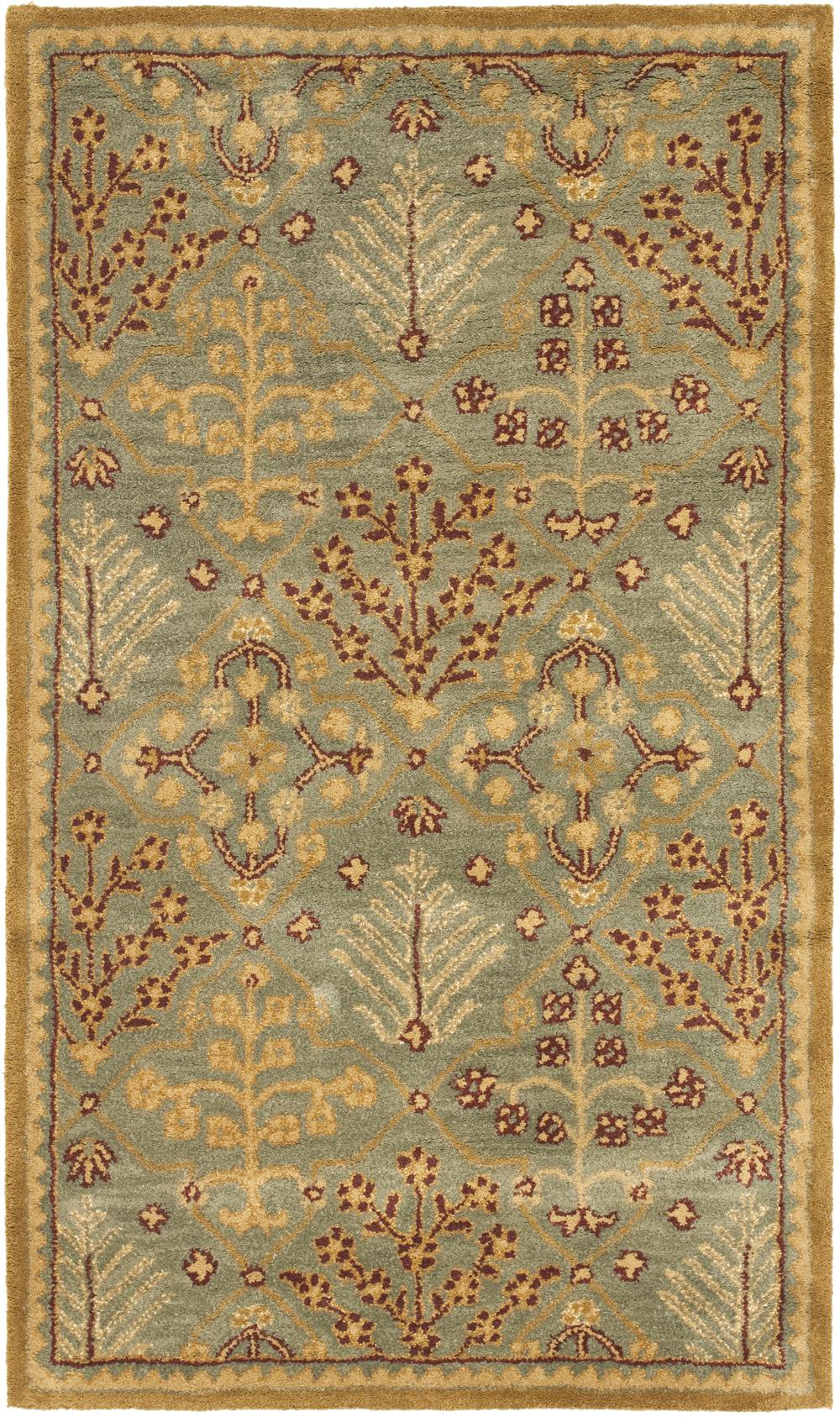 Safavieh Antiquity At613a Light Blue And Gold Area Rug