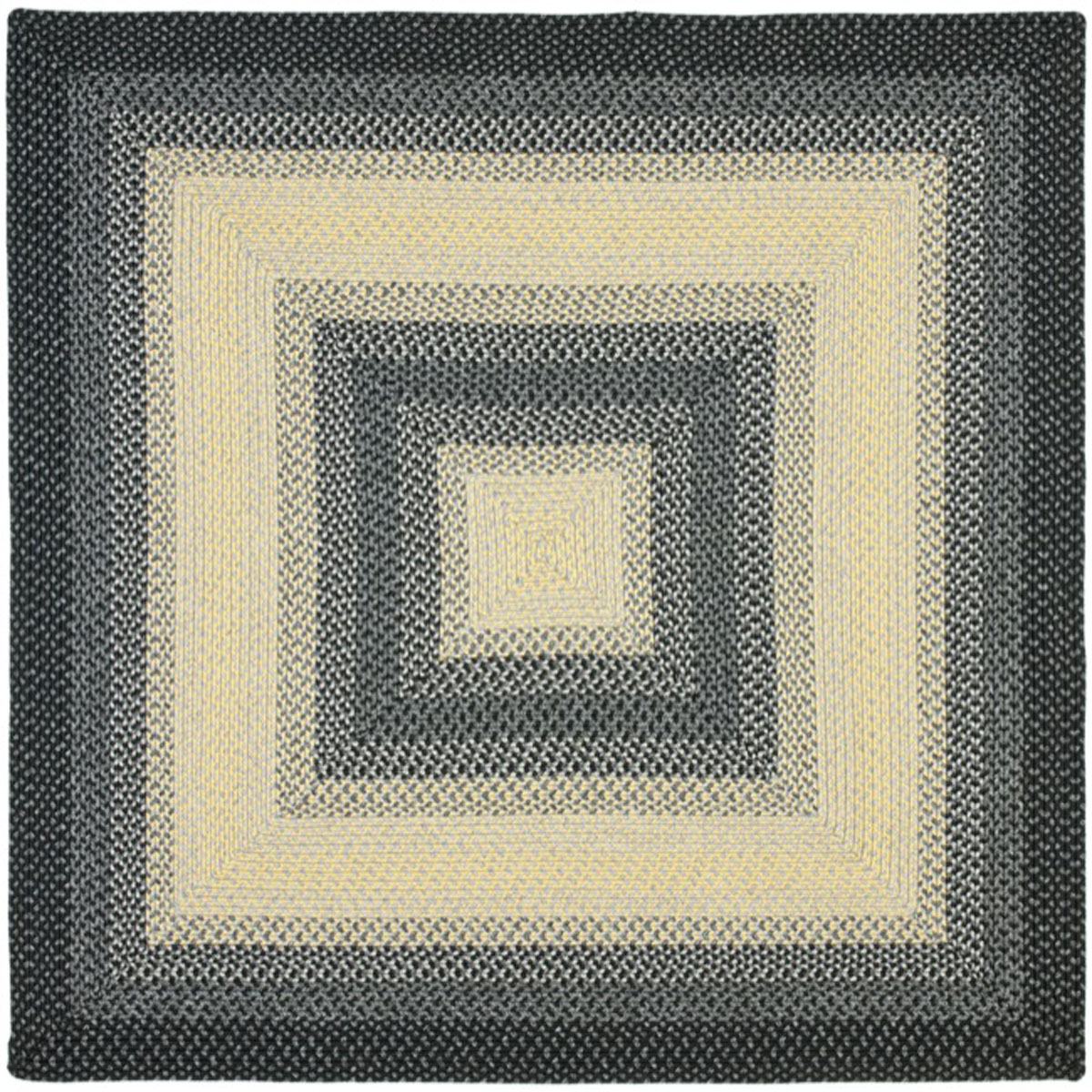 Safavieh Braided Brd311a Black And Grey Area Rug Free