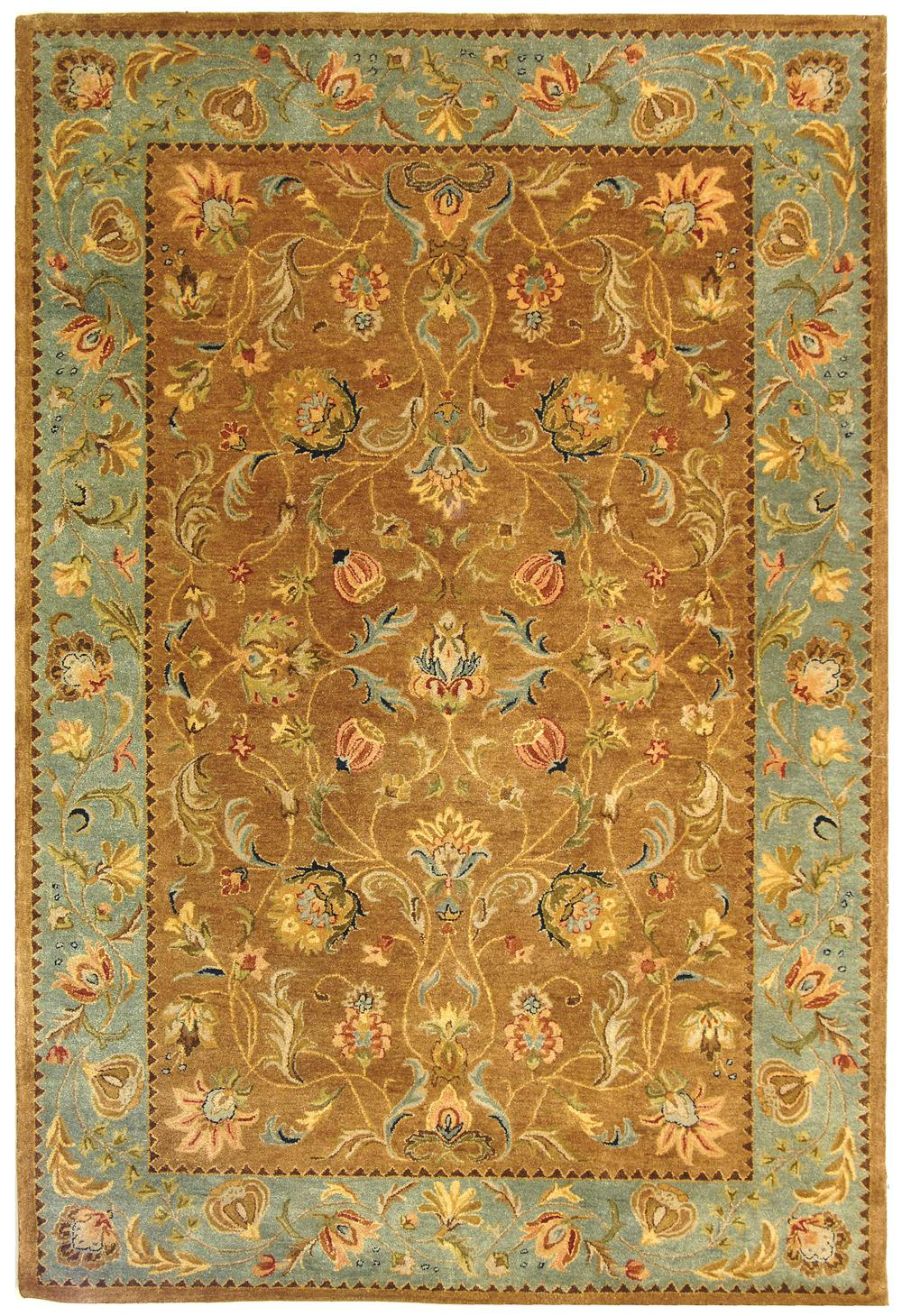 Safavieh Bergama Brg161a Brown And Blue Area Rug Free
