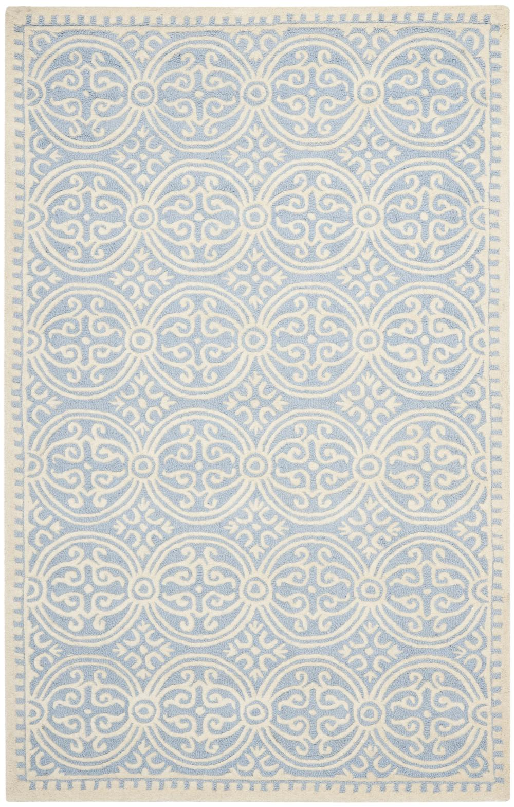 Safavieh Cambridge Cam123a Light Blue And Ivory Area Rug