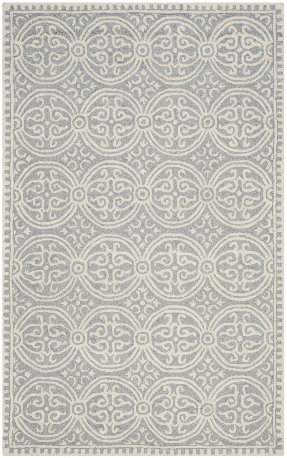 Safavieh Cambridge Cam123d Silver And Ivory Area Rug