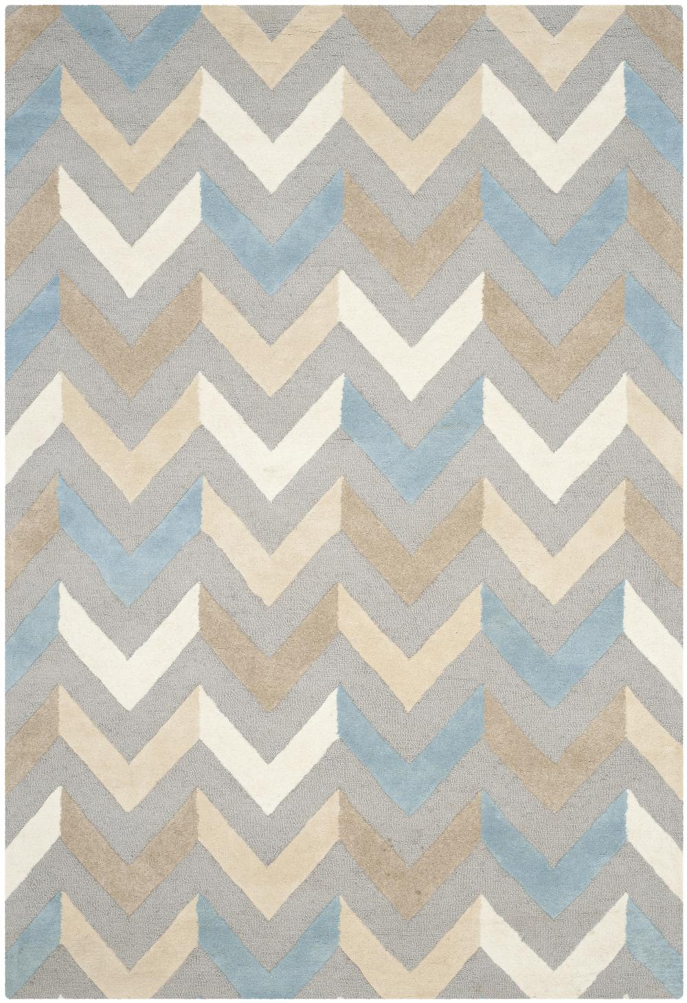 Safavieh Cambridge Cam580a Grey And Ivory Area Rug Free