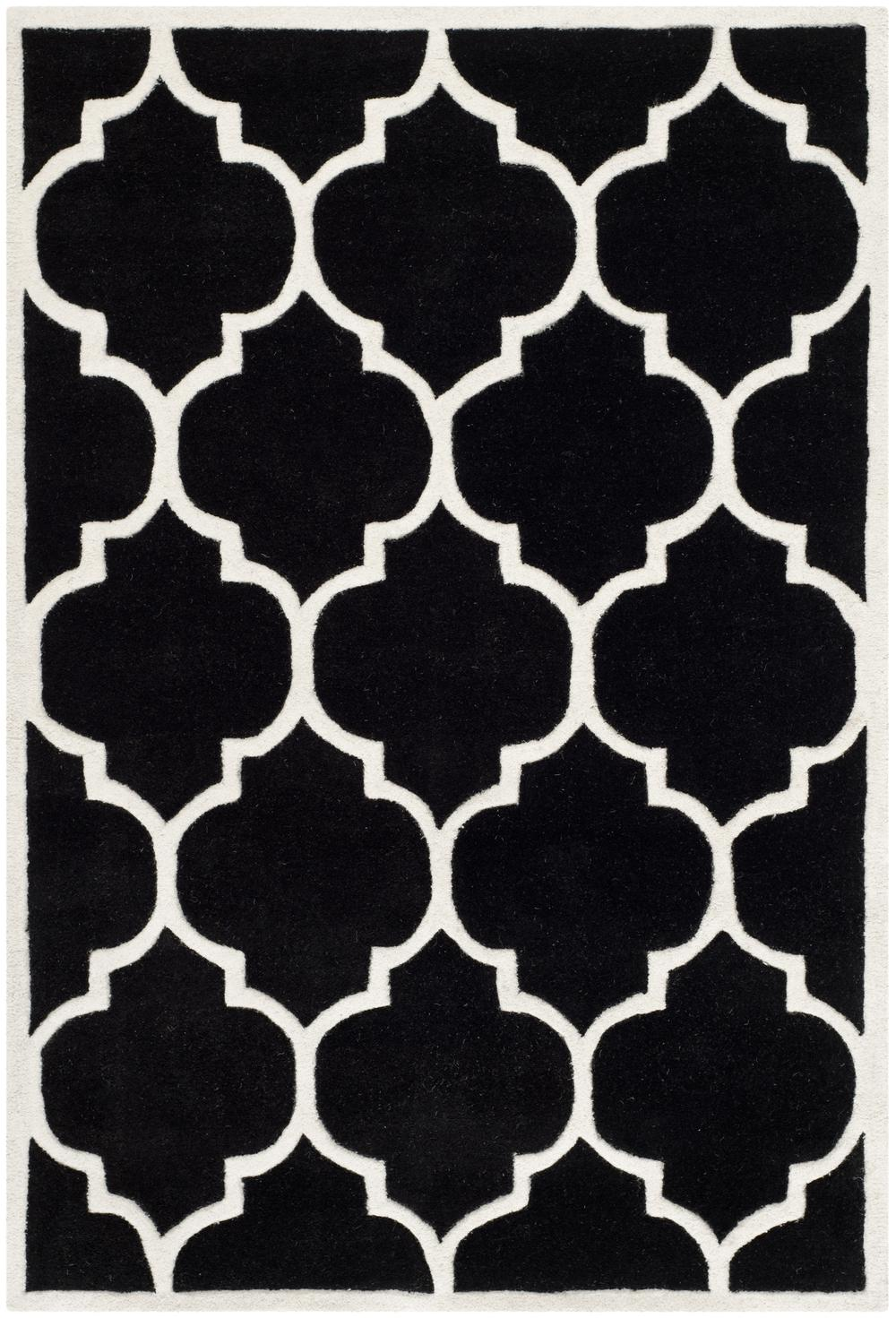 Safavieh Chatham CHT733K Black and Ivory Area Rug  Free
