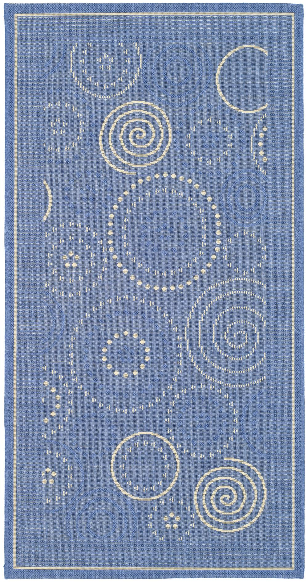 Safavieh Courtyard Cy1906 3103 Blue And Natural Area Rug