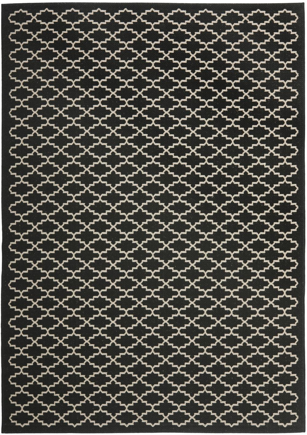 Black And Beige Living Room Decor: Safavieh Courtyard CY6919-226 Black And Beige Area Rug