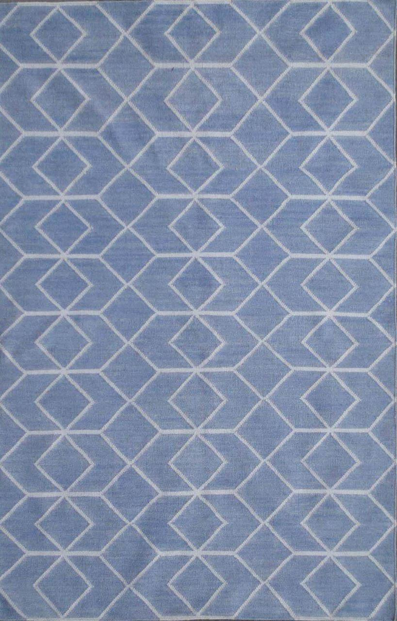Safavieh Dhurries Dhu560a Blue And Ivory Area Rug Free