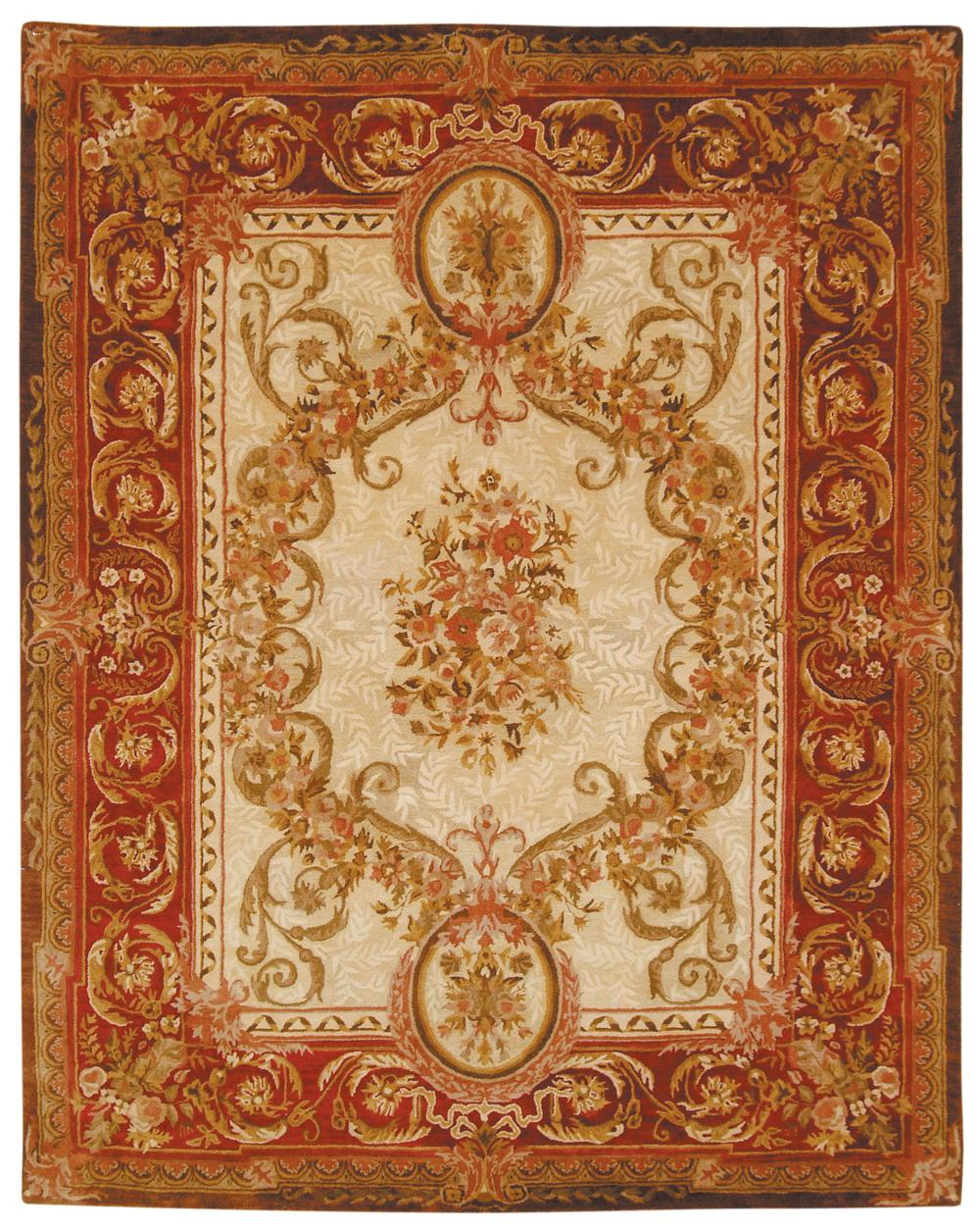 Safavieh Empire Em415a Light Gold And Red Area Rug Free