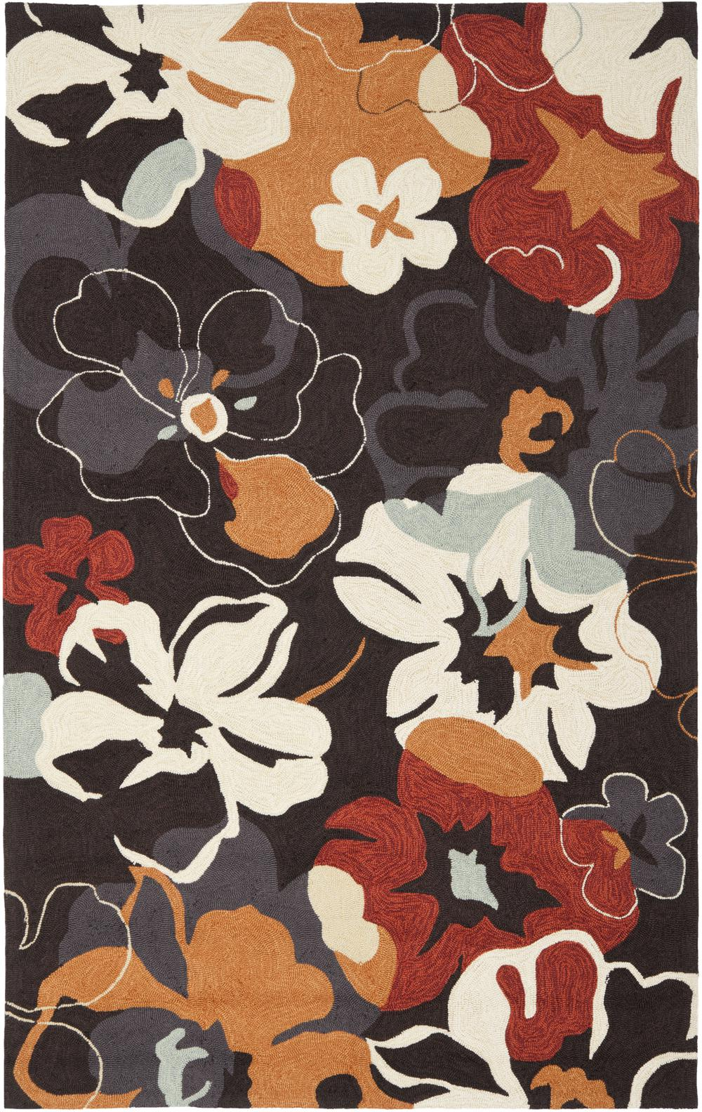 Safavieh Four Seasons Frs228a Black And Orange Area Rug