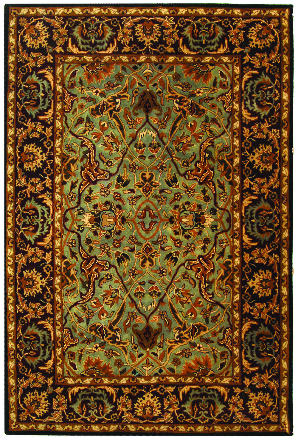 safavieh heritage hg794a light blue and red area rug free shipping. Black Bedroom Furniture Sets. Home Design Ideas