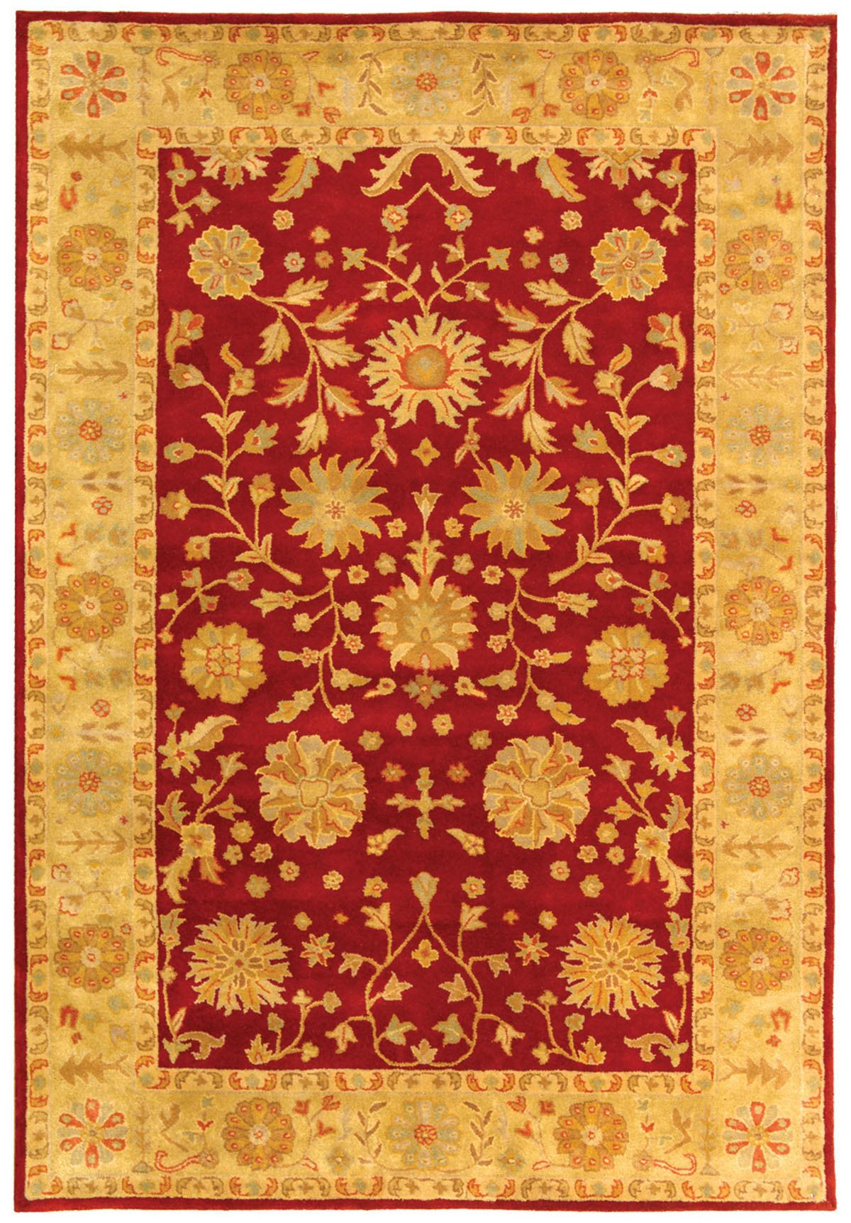 Safavieh Heritage Hg813a Red And Gold Area Rug Free Shipping