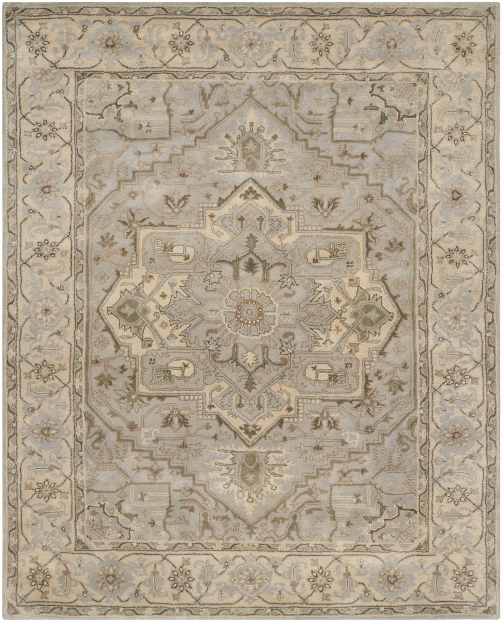 Safavieh Heritage Hg866a Beige And Grey Area Rug Free